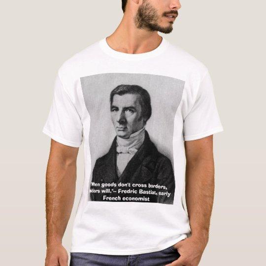 "Bastiat, ""When goods don't cross borders, sol"