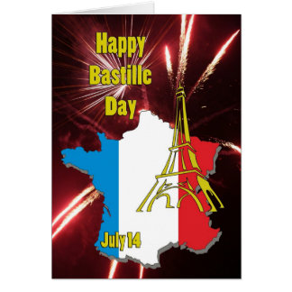 Bastille Day July 14 Greeting Card
