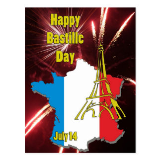 Bastille Day July 14 Postcard