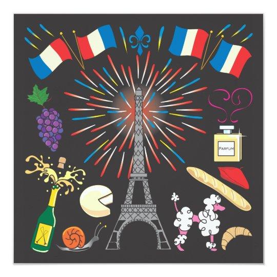 Bastille Day Party Celebration Invitation