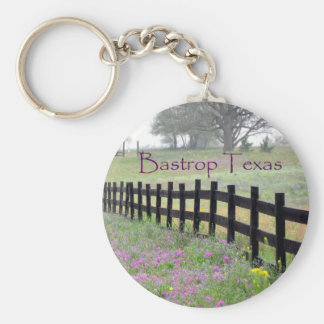 Bastrop Texas Fence Line Wildflowers Key Chain