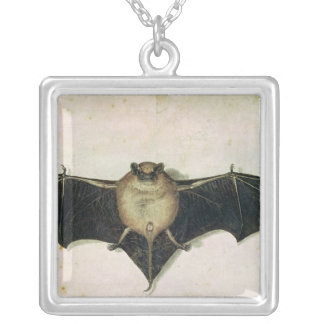 Bat, 1522 silver plated necklace