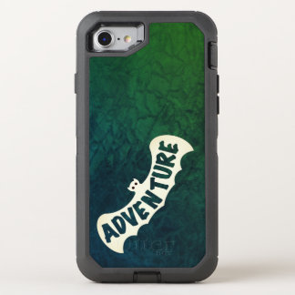 BAT ADVENTURE SIGNAL GREEN by Slipperywindow OtterBox Defender iPhone 8/7 Case