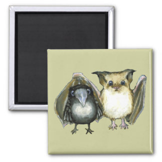 bat and raven magnets