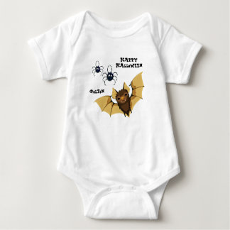 Bat and Spiders Baby Bodysuit