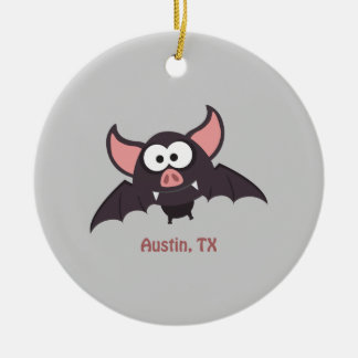 Bat - Austin, Texas Christmas Ornament