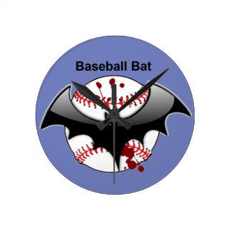 Bat...Baseball...Baseball Bat Wallclocks