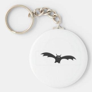 Bat Basic Round Button Key Ring