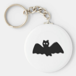 Bat Basic Round Button Key Ring