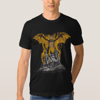 Bat Burning Ghost House Tshirts