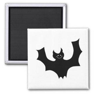 Bat Cartoon. Black and White. Magnet