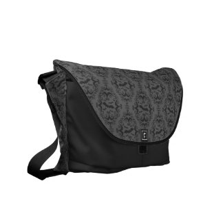 Bat Damask Messenger Bags
