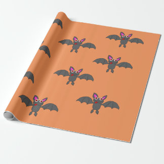 Bat design wrapping paper
