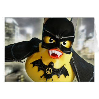 Bat Ducky Rules! Greeting Card