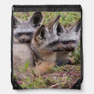 Bat-Eared Foxes, Serengeti National Park Drawstring Bag