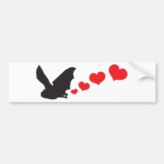 Bat farts Hearts Bumper Sticker