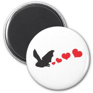 Bat farts Hearts Magnet