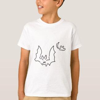 bat flight dog at night moon T-Shirt