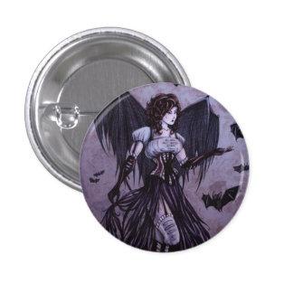 Bat Goddess Fantasy Art - Button