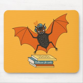 Bat Granny Book Lover Mouse Mat