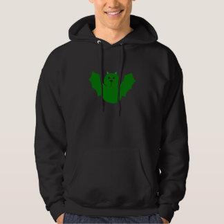 Bat (green) hooded sweatshirts