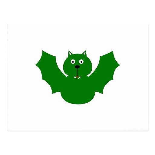 Bat (green) post card