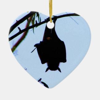 BAT - HANGING AROUND ~ ~ CERAMIC HEART DECORATION