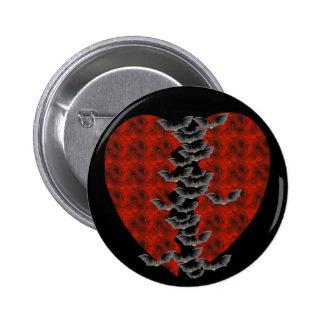 Bat Heart 6 Cm Round Badge