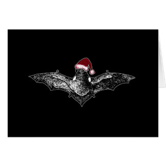 Bat in a Santa Hat Card