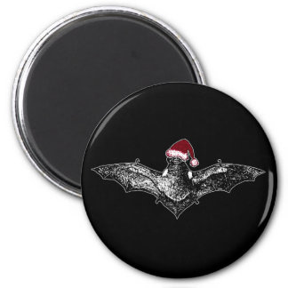 Bat in a Santa Hat Magnet