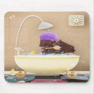 Bat in a tub - mousepad