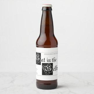Bat in the Belfry custom beer bottle labels