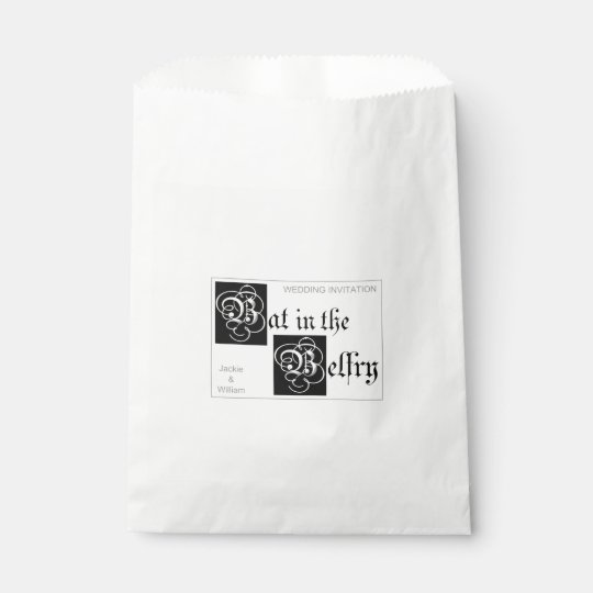 Bat in the Belfry gift bags
