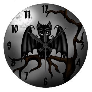 Bat Large Clock