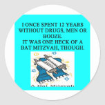 bat mitzah round stickers