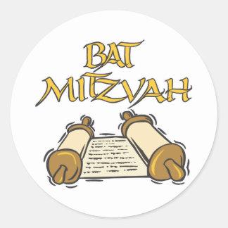 Bat Mitzvah Classic Round Sticker