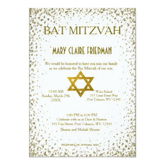 Bat Mitzvah | Gold Confetti Card