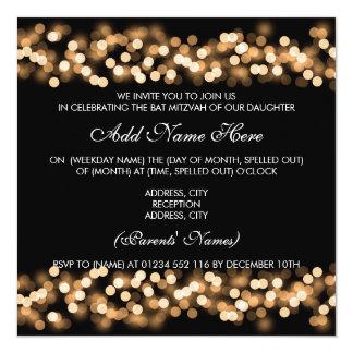 Bat Mitzvah Gold Hollywood Glam 13 Cm X 13 Cm Square Invitation Card
