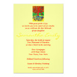 Bat Mitzvah:Hearts Grow Into Butterflies Tree Life 13 Cm X 18 Cm Invitation Card