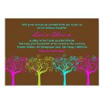 Bat Mitzvah Invitation Liana Claire Chocolate Pink