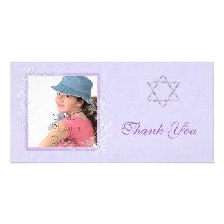 Bat Mitzvah Purple Picture Card