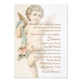 Bat Mitzvah Renaissance Cupid Angel Cherub Card