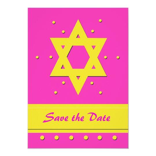 Bat Mitzvah Save the Date Invitation Card