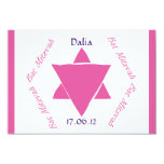 Bat Mitzvah Star of David RSVP, personalised Personalized Announcements