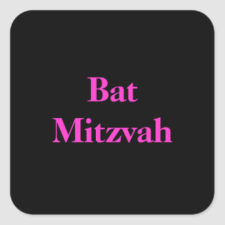 Bat Mitzvah stickers