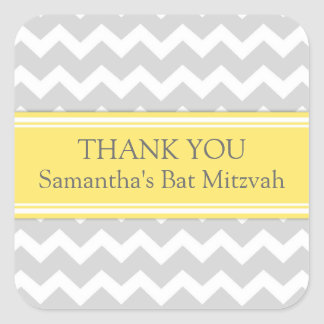 Bat Mitzvah Thank You Custom Name Favor Tags Lemon