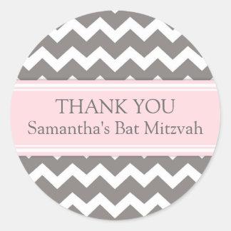 Bat Mitzvah Thank You Custom Name Favor Tags Pink