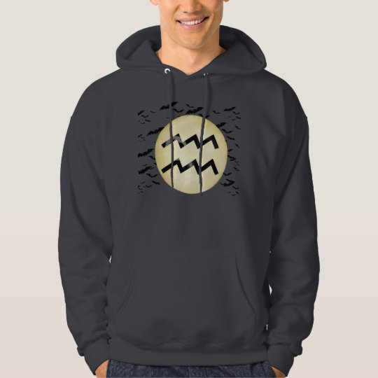 Bat Moon Aquarius Hoodie