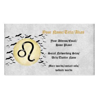 Bat Moon Leo Pack Of Standard Business Cards