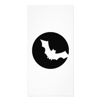 Bat moon personalized photo card